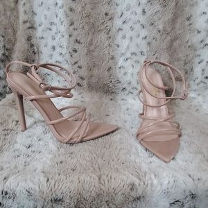 Blush Strappy Stilettos